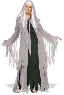 Midnight Spirit Ghost Apparition Zombie Fancy Dress Up Halloween Adult Costume