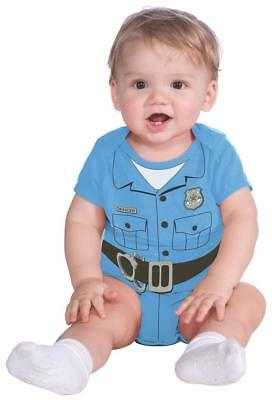 Police Officer Jumper Blue Cop Fancy Dress Up Halloween Baby Child Costume