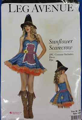 Sunflower Scarecrow Wizard Oz Country Girl Fancy Dress Halloween Adult Costume](Country Girl Halloween Costumes)