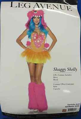 Shaggy Shelly Furry Monster Pink Fancy Dress Up Halloween Sexy Adult Costume
