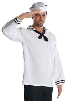 Halloween-kostüm Popeye (Sailor White Navy Retro Military Hero Popeye Fancy Dress Halloween Adult Costume)