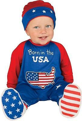 Pint Size Patriot Baby USA July 4th Fancy Dress Halloween Toddler Child Costume ()