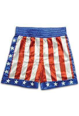 Apollo Creed Boxing Trunks Rocky Fancy Dress Halloween Adult Costume Accessory - Apollo Creed Shorts