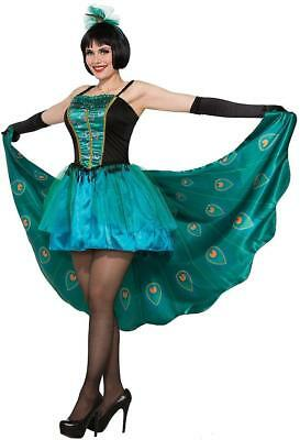 Pretty in Peacock Tropical Bird Animal Fancy Dress Up Halloween Adult Costume