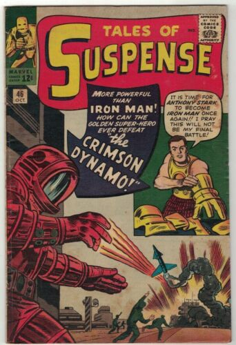 TALES OF SUSPENSE #46 - 1st APP CRIMSON DYNAMO - MARVEL COMICS/1963