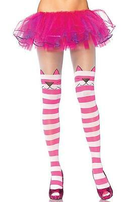 Cheshire Cat Opaque Striped Spandex Tights Fancy Dress Adult Costume Accessory