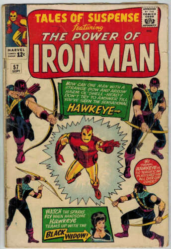 1964 TALES OF SUSPENSE LOT #57 59 63 64 75+ 1ST HAWKEYE IRON MAN CAPTAIN AMERICA