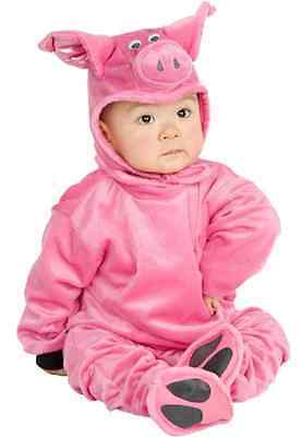 Little Pig Piggy Farm Animal Pink Cute Fancy Dress Halloween Baby Child Costume