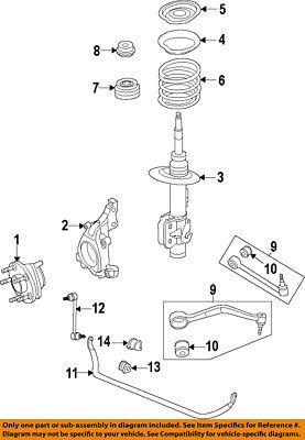 Chevrolet GM OEM 11-15 Caprice Stabilizer Sway Bar-Front-Link 92253276