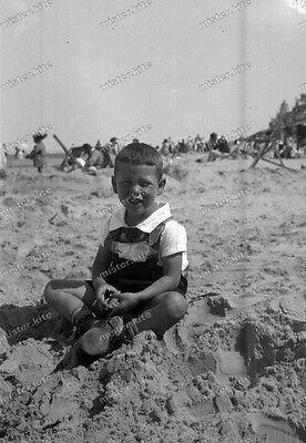 Vintage Photo negativ-1930-Young-cute-Boy-teen-shots-knabe-leather pants-12 ()