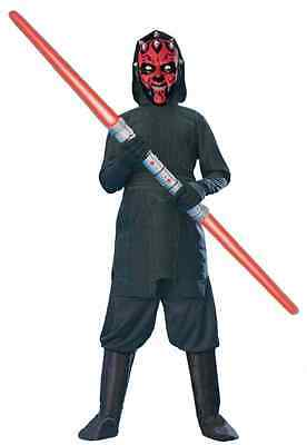 Darth Maul Dress Up (Darth Maul Star Wars Sith Lord Darkside Fancy Dress Up Halloween Child)