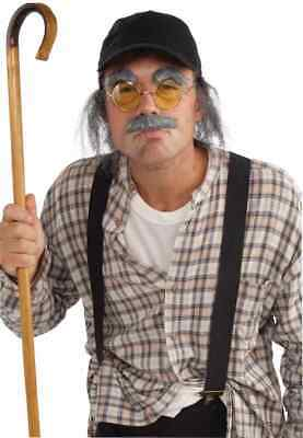 Old Man Disguise Kit Geezer Fancy Dress Up Halloween Adult Costume Accessory Disguise Kit