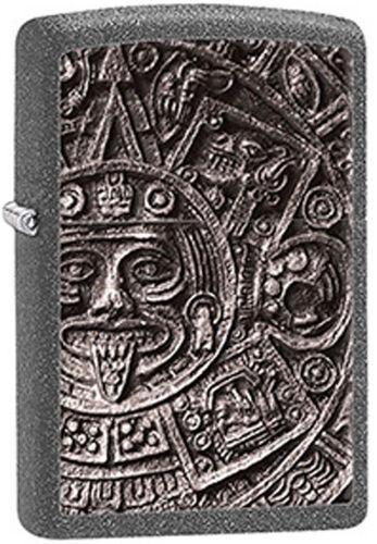 Mayan Aztec Calendar Stone Grey Zippo Lighter New