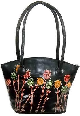Exclusive Floral Design Ethnic Ladies Shantiniketan Leather Indian Shoulder Bag