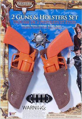 Cowboy Gun Holster Halloween (Western Toy Gun Holster Set Cowboy Fancy Dress Halloween Child Costume)