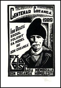Vilmos Torro X3 Exlibris 1989 Bookplate Centenar Creanga Ion Roata 514 - <span itemprop='availableAtOrFrom'> Dabrowa, Polska</span> - Vilmos Torro X3 Exlibris 1989 Bookplate Centenar Creanga Ion Roata 514 -  Dabrowa, Polska