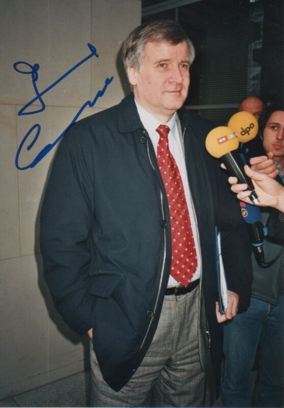 Horst Seehofer Autogramm signed 13x18 cm Bild