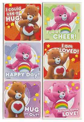 25 Care Bears Love and Cheer Stickers, 2.5