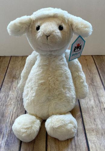 """Jellycat Medium Bashful Lamb Plush Sheep NWT 12"""" Baby Kids Stuffed Animal NEW"""