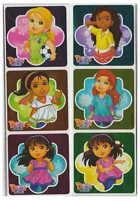 Dora Party Favors (25 Dora and Friends Foil Stickers, 2.5