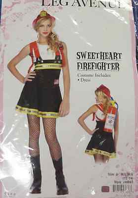 Fire Girl Costume Halloween (Sweetheart Firefighter Girl Fire Rescue Fancy Dress Up Halloween Teen)