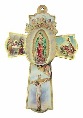 Our Lady Angels - Our Lady of Guadalupe with Cherub Angels Wooden Wall Cross Crucifix, 6 Inch
