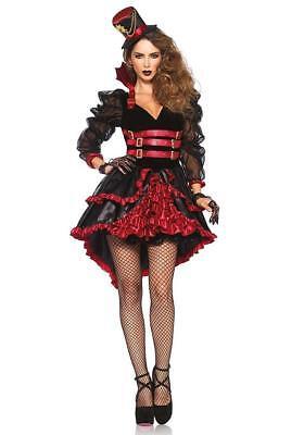 Victorian Vamp Vampire Girl Gothic Fancy Dress Up Halloween Sexy Adult Costume - Women's Victorian Vampire Goth Dress Halloween Costume