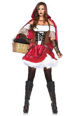Rebel Red Riding Hood Fairy Tale Fancy Dress Up Halloween Sexy Adult Costume ()