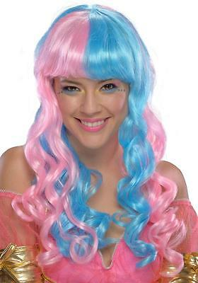 Candy Fairy Wig Retro Rave Fancy Dress Up Halloween Costume Accessory 2 COLORS (Retro Halloween Candy)