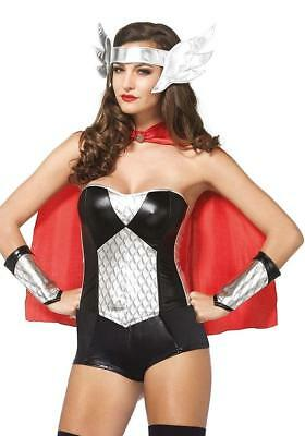 Nordic Hero Superhero Thor Fancy Dress Halloween Sexy Adult Costume Accessory