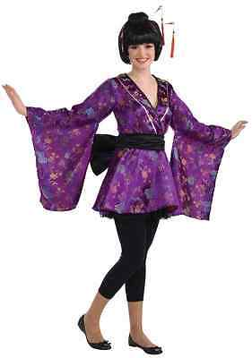 Fortune Cookie Geisha Asian Japanese Kimono Fancy Dress Halloween Teen Costume - Halloween Costumes Geisha