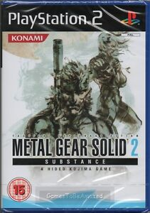 METAL GEAR SOLID 2: SUBSTANCE GAME PS2 ~ NEW / SEALED