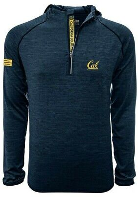 Cal Golden Bears NCAA Men's Insignia 1/4 Zip Hooded Pullover Jacket, Medium, NWT Cal Golden Bears Mens Jacket