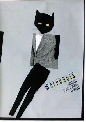 Original vintage poster WALPURGIS FASHION STORE CAT c.1985