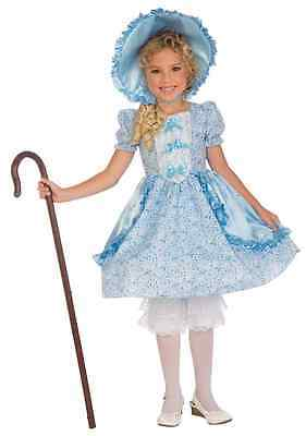 Little Bo Peep Halloween Costume Toddler (Lil' Bo Peep Blue Fairy Tale Little Fancy Dress Halloween Toddler Child)