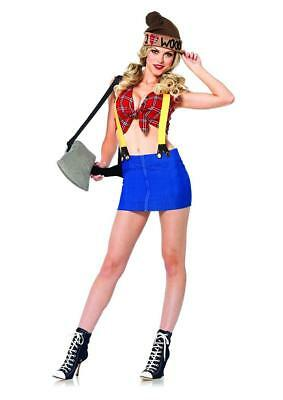 Lumberjack Girl Costume (Lumber Jackie Lumberjack Girl Fancy Dress Up Halloween Sexy Adult)