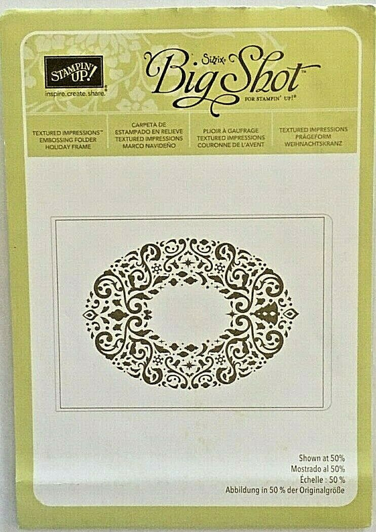 Stampin Up Holiday Frame Textured Impressions Embossing Folder-Retired - $6.99