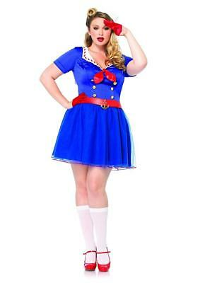 Ahoy There Honey Sailor Girl Fancy Dress Halloween Plus Size Sexy Adult Costume ()