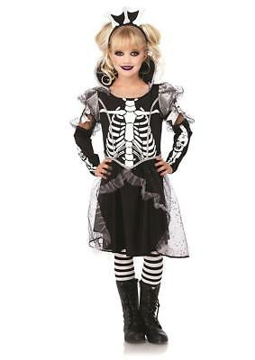 Skeleton Princess Girl Bones Scary Fancy Dress Up Halloween Child - Halloween Costumes Scary Girl