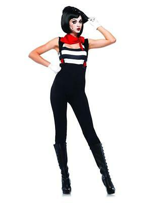Marvelous Mime Clown Carnival Circus Fancy Dress Halloween Sexy Adult - Sexy Mime Kostüm