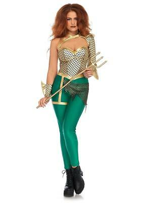 Aqua Warrior Girl Superhero Woman Fancy Dress Up Halloween Sexy Adult Costume - Girl Warrior Costume
