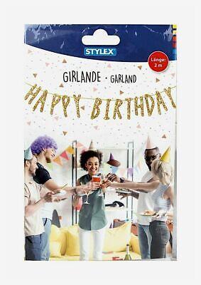tte 2m Girlande HAPY BIRTHDAY  (Hapy Birthday)