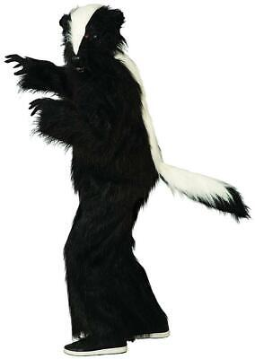 Skunk Suit Plush Mascot Animal Fancy Dress Up Halloween Deluxe Adult Costume - Skunk Halloween Costumes