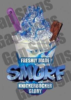 ICE CREAM VAN STICKER Smurf KBG FLAKE