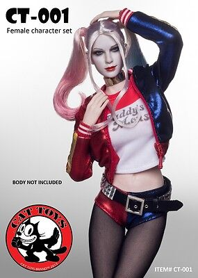 Harley Quinn Outfits (CAT TOYS Female Sexy Character Harley Quinn Outfits w/ Head Set 1/6 (NO BODY))