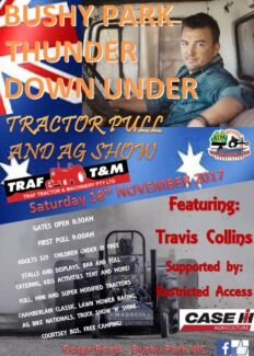 """Bushy Park """"THUNDER DOWN UNDER"""" Tractor Pull and Ag Show"""