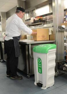 New: commercial kitchen foot-pedal waste bins