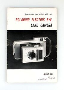 polaroid electric eye j33 land camera manual | ebay