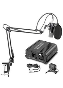Studio microphone with adapters