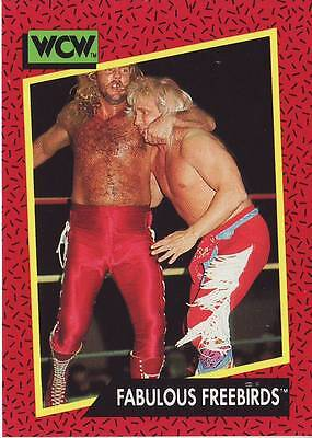 1991 WCW/WWE Impel #121 Fabulous Freebirds Michael PS Hayes near mint